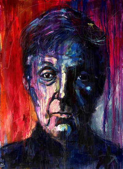 Portrait of Paul McCartney from The Beatles; Roy Laws art, Painter of Music, live entertainment