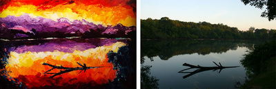 Painting of Chattahoochee River; Alan Jackson; Roy Laws art, Painter of Music; Nashville