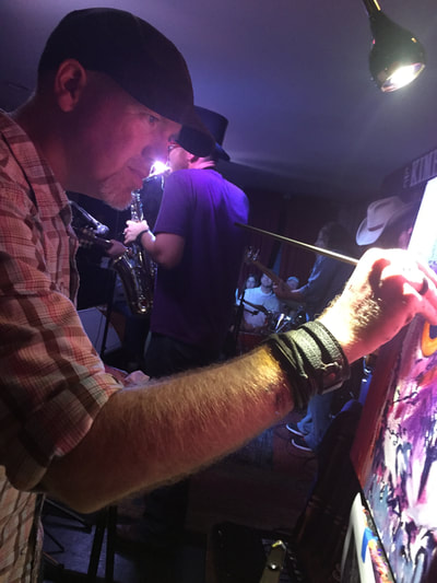 Roy Laws art, Painter of Music, live entertainment at private events