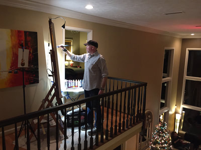 Roy Laws art, Painter of Music, live entertainment at private events; Christmas party